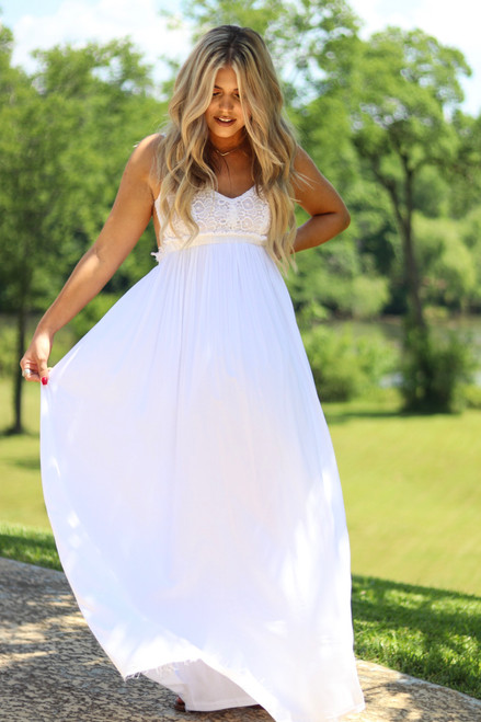 Forever & Always | Maxi Dress in White