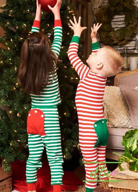 Monogrammed Kiddo Pajamas | Red Stripe