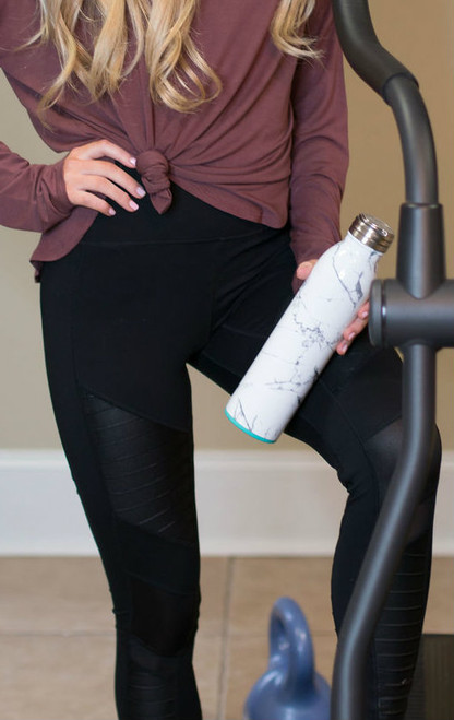 Athleisure Workout Leggings | Black