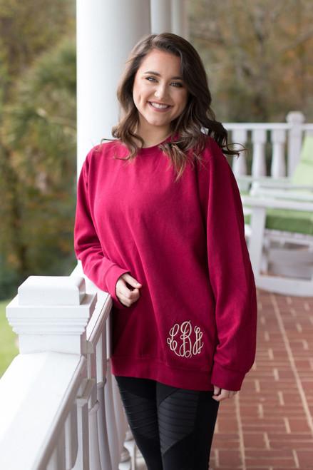 Monogrammed Comfort Colors Sweatshirt | Chili Pepper