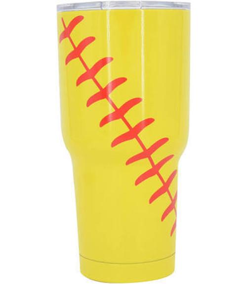 Monogrammed Softball Insulated Tumbler