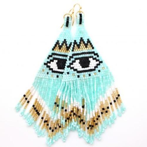 Karli Buxton | Confetti Earrings with Eye | Mint
