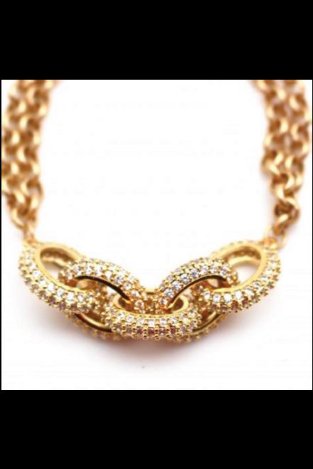 Karli Buxton   Chain Link Bracelet   Gold