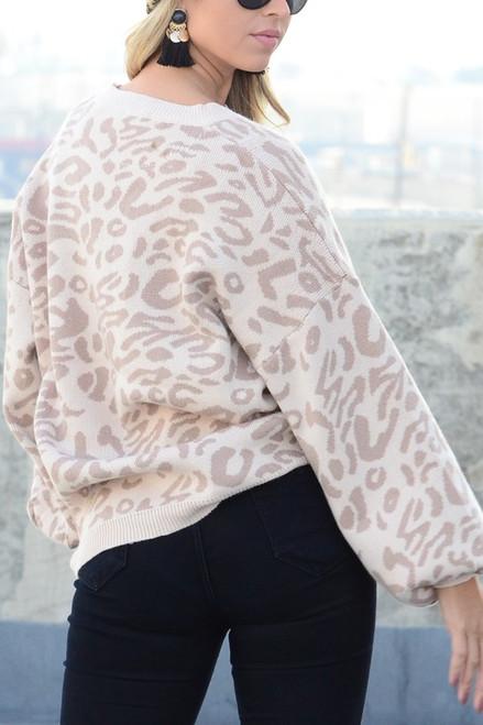 The Katelyn   Cheetah Print Sweater