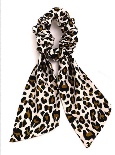 Cheetah Ribbon Scrunchie