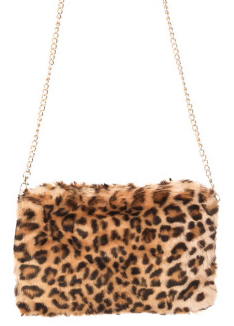 Faux Fur Cheetah Crossbody