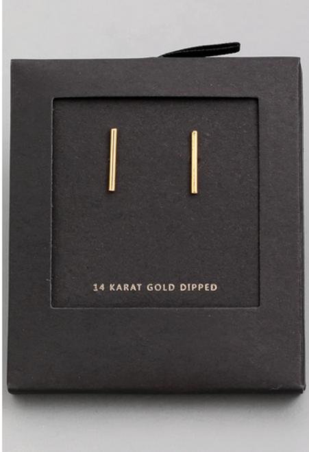 Gold Bar Studs