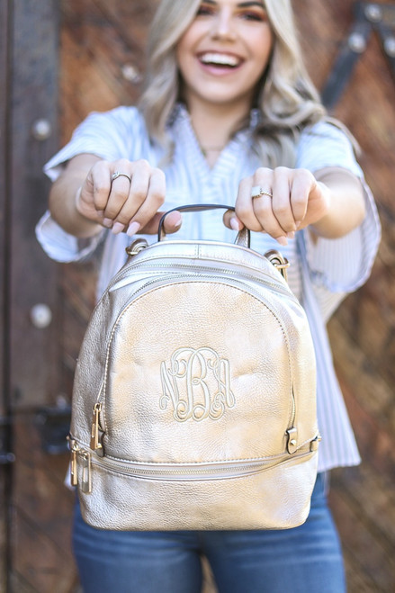Monogrammed Back-Pack Purse