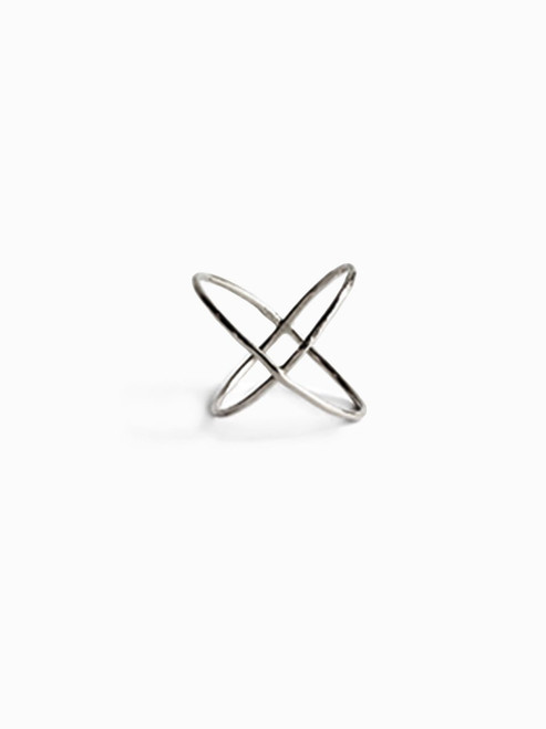 ABLE | X Ring Size 7 | Silver