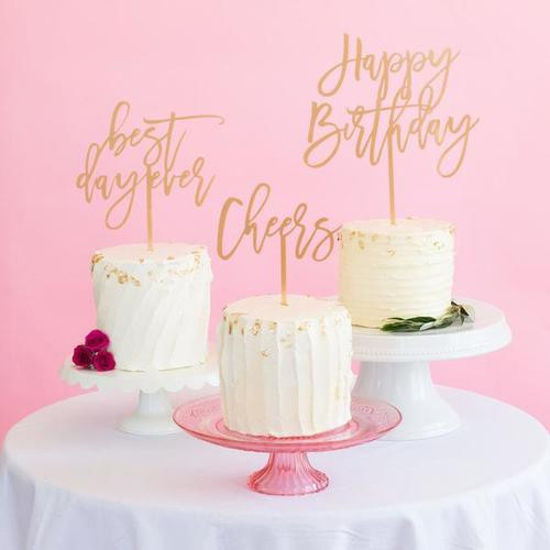 """Moon & Lola """"Mr & Mrs"""" Cake Topper"""