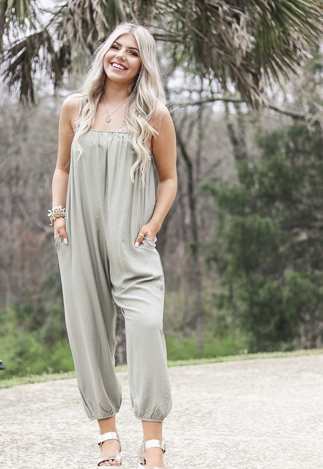 Picture This | Sage Jumpsuit