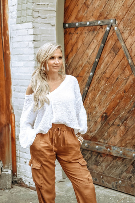 There She Goes | White Cropped Top