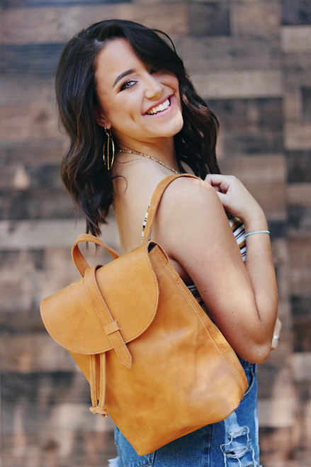ABLE | Mini Tirhas Backpack in Cognac