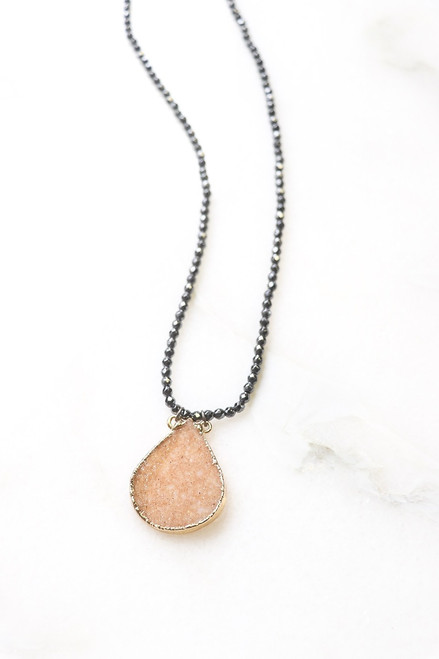 Karli Buxton   Druzy Teardrop Necklace