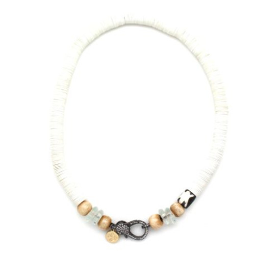 Karli Buxton | White Vinyl Attachment Necklace
