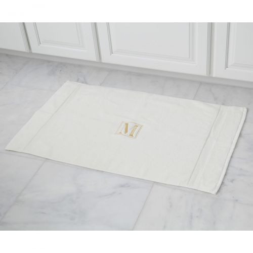 Monogrammed Luxury Bath Mat in Ivory