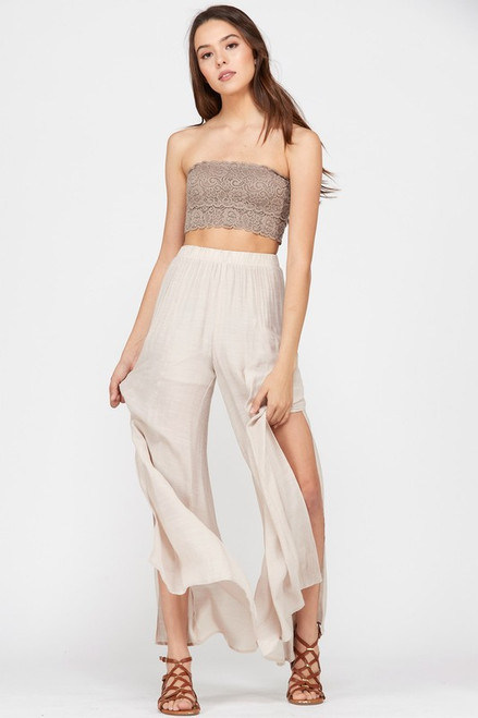 Soar Away With Me | Champagne Palazzo Pants