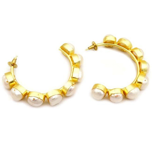 Betsy Pittard | Crosby Earrings | Gold & Pearl