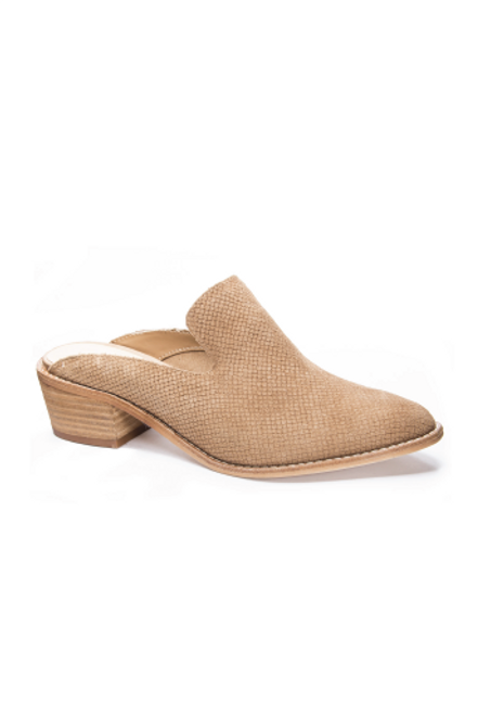 Chinese Laundry | Marnie Mules in Camel Snake Suede