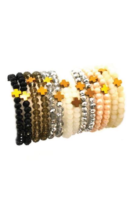 Betsy Pittard   Mini Cross Bracelets Neutrals