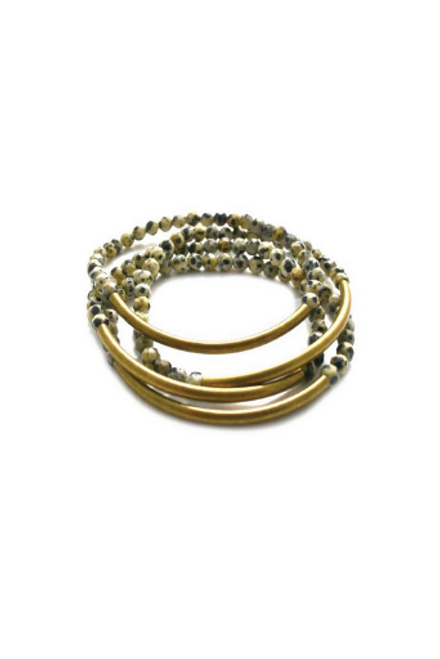 Betsy Pittard | Bar Bracelet in Dalmatian