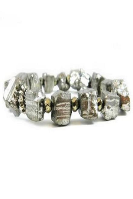 Betsy Pittard   Hematite Chunk in Silver