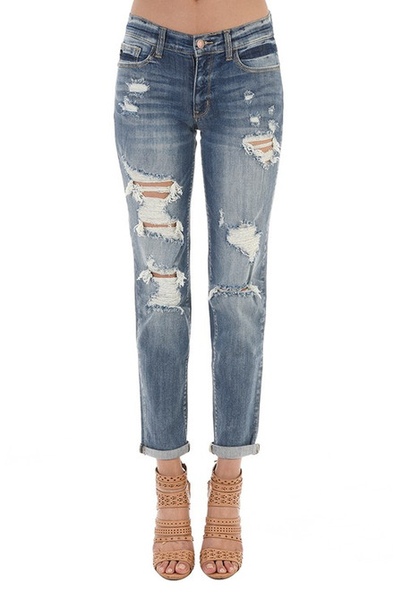 Walk Me Home | Distressed Boyfriend Jeans