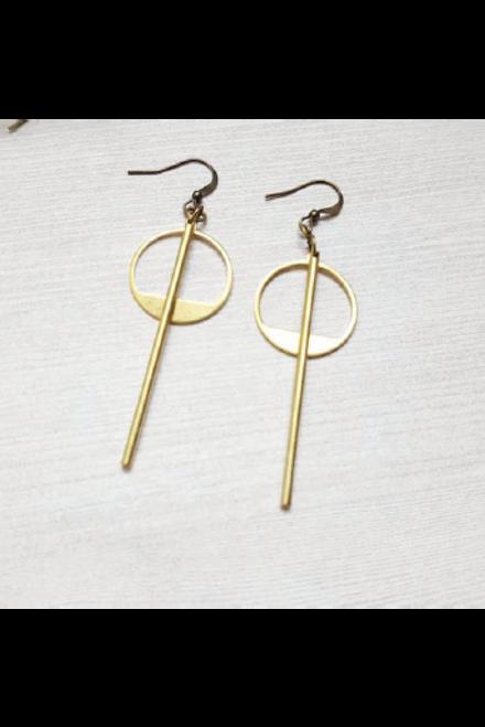 Dynamo   Gold Minimalist Geometric Earrings