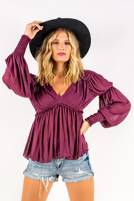 Free People | Day Dreaming Top | Plum