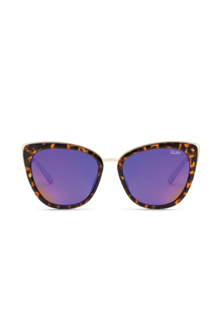 Quay Sunglasses   Honey Tortoise & Purple