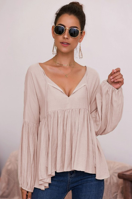 Anne Margaret   Relax Top in Taupe