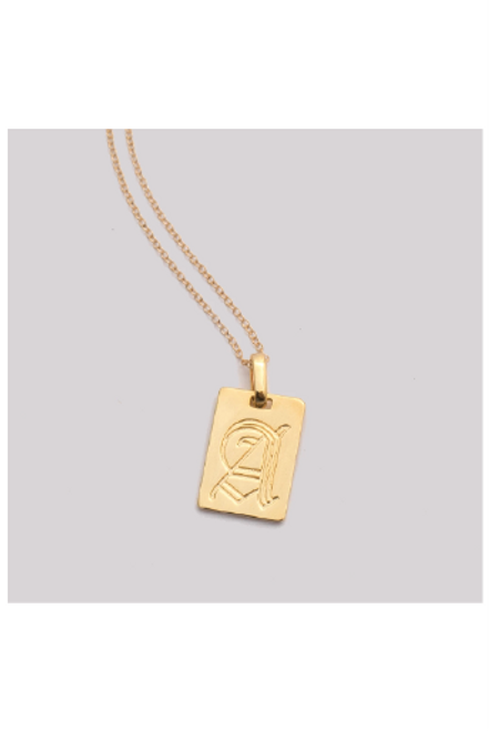 Mod + Jo | Old English Initial Pendant Necklace