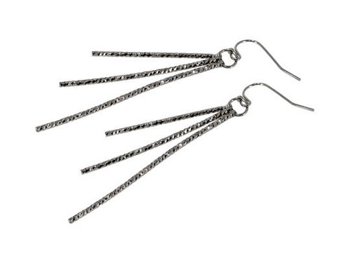 The Party Girl Pewter Earrings