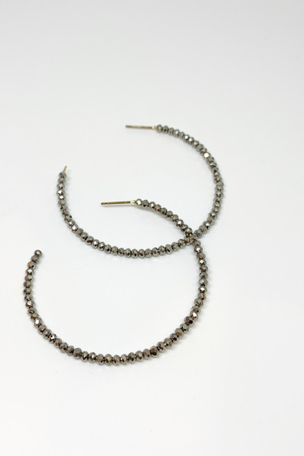 Pewter Beaded