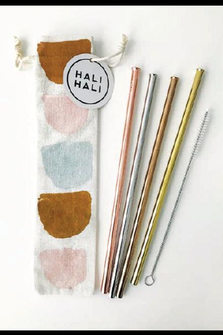 Half Moons Reusable Straws - 6 Piece Set
