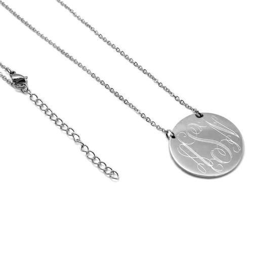 Monogrammed Disc Necklace
