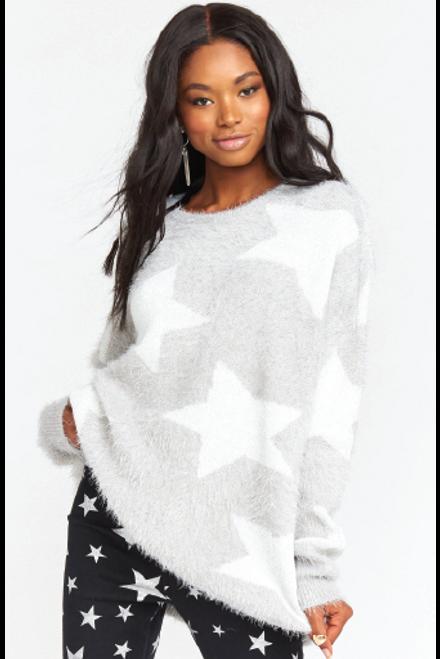 Show Me Your Mumu   Leighanne Sweater   Fuzzy Star Knit