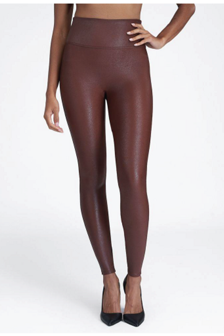 Spanx | Faux Leather Leggings | Mahogany
