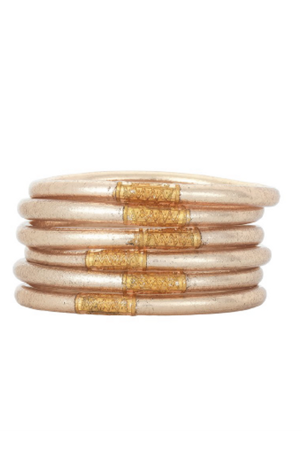 Budha Girl | Champagne Bangles | Set of 6