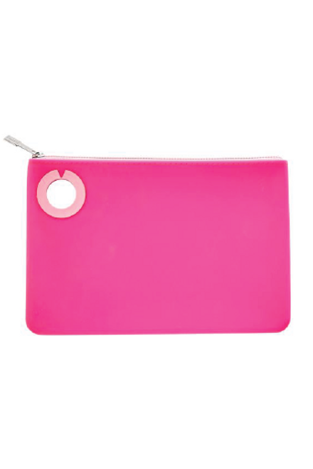 Silicone Pouch in Tickled Pink. Available in Macon, GA & Marietta, GA.