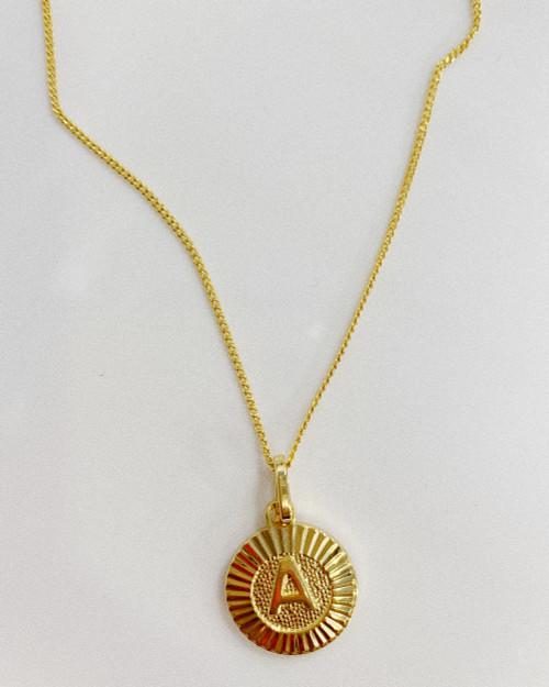 Bracha | Gold Filled Initial Medallion