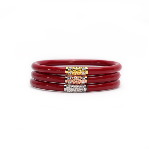 Budha Girl | Three Kings All Weather Bangles | Red