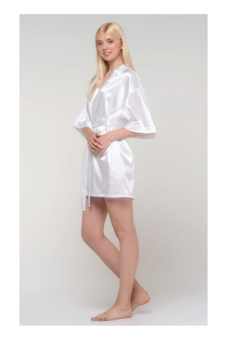 Monogrammed Satin Women's Robe