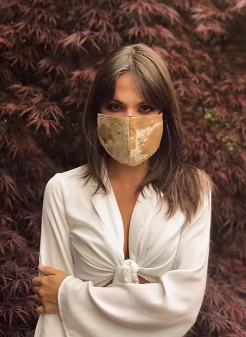 Golden Girl Genuine Leather Mask