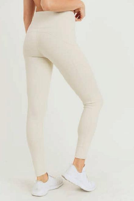 Neutral Mesh Pockets Leggings available in Macon GA & Marietta GA
