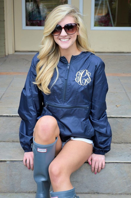 (Youth M-L & Adult XXS, XS, M) Monogrammed Pack-N-Gos & Anoracks