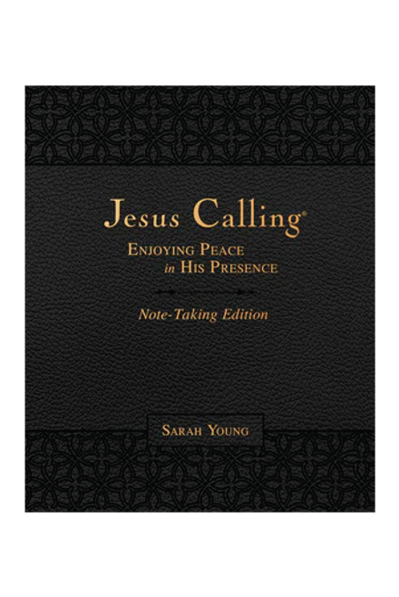 Jesus Calling by Sarah Young | Black Leather | Note-Taking Edition