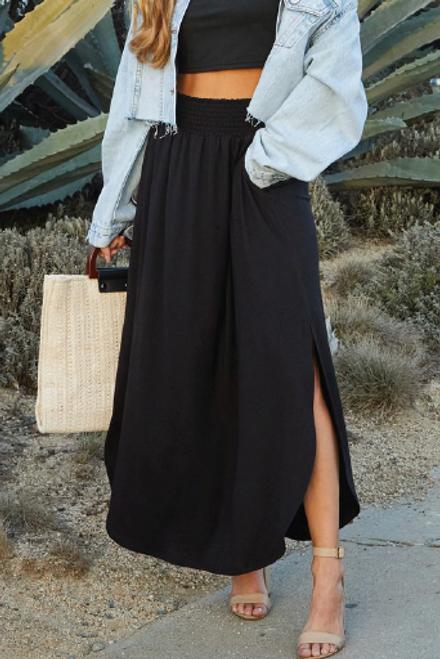 Classic Love Maxi Skirt |  Black