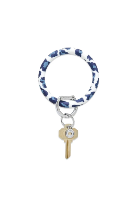 Key Ring by Oventure in Navy Leopard Available in Macon, GA & Marietta, GA.