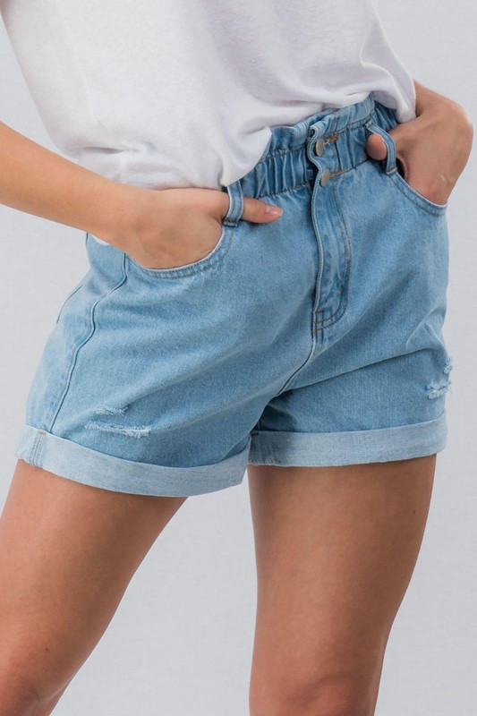 1877ced4d7 Vintage Distressed High Waisted Denim Shorts
